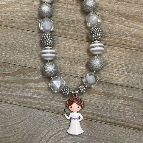 Star Wars Princess Leia Gumball Bead Necklace by TheFancyNursesNook on Etsy