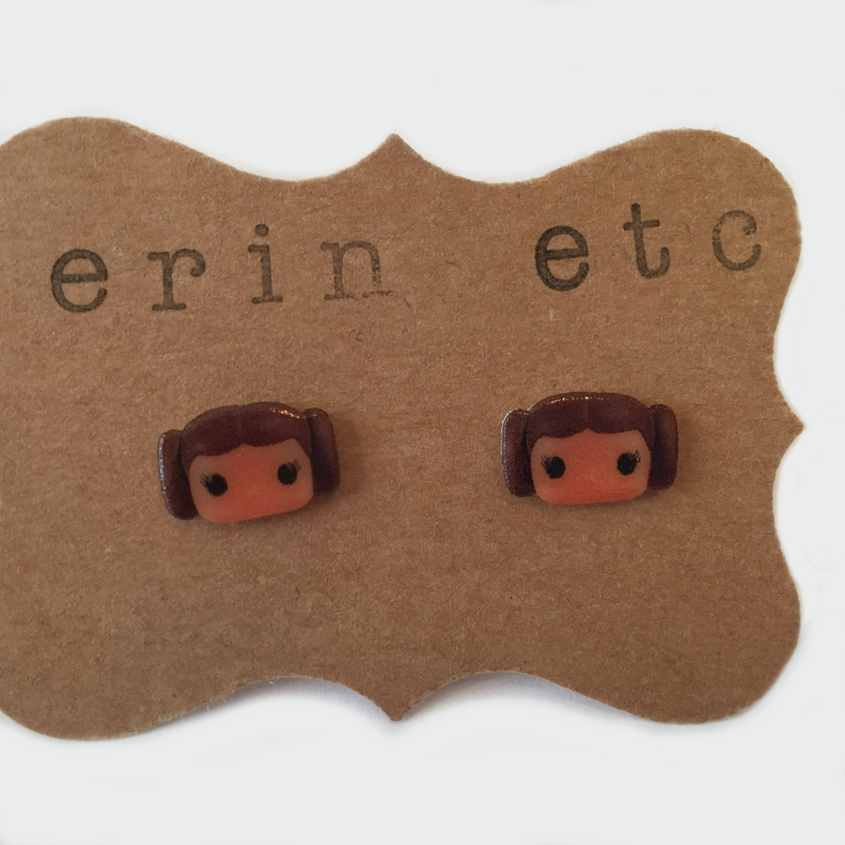 Star Wars Princess Leia Stud Earrings by Erin Etc on Etsy