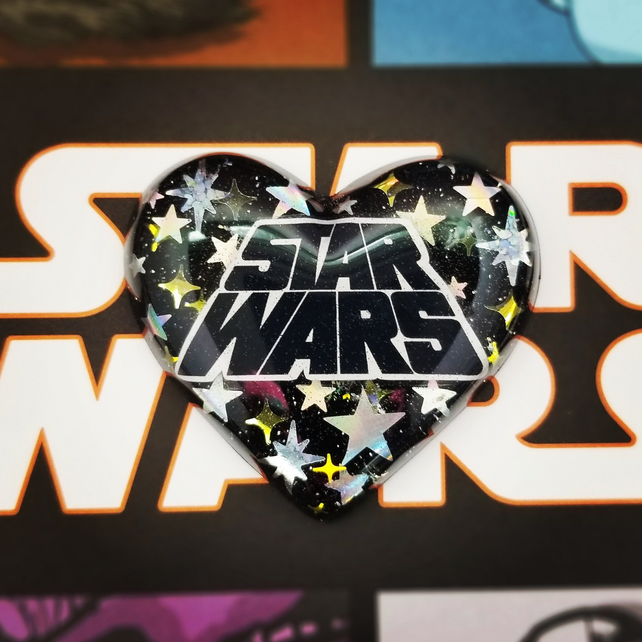 Star Wars Heart Shaped Necklace by Etsy Seller PBnJewelsBoutique