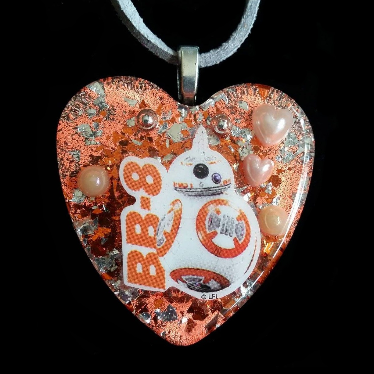 Star Wars Heart Shaped Necklace by Etsy Seller ChildishHeart