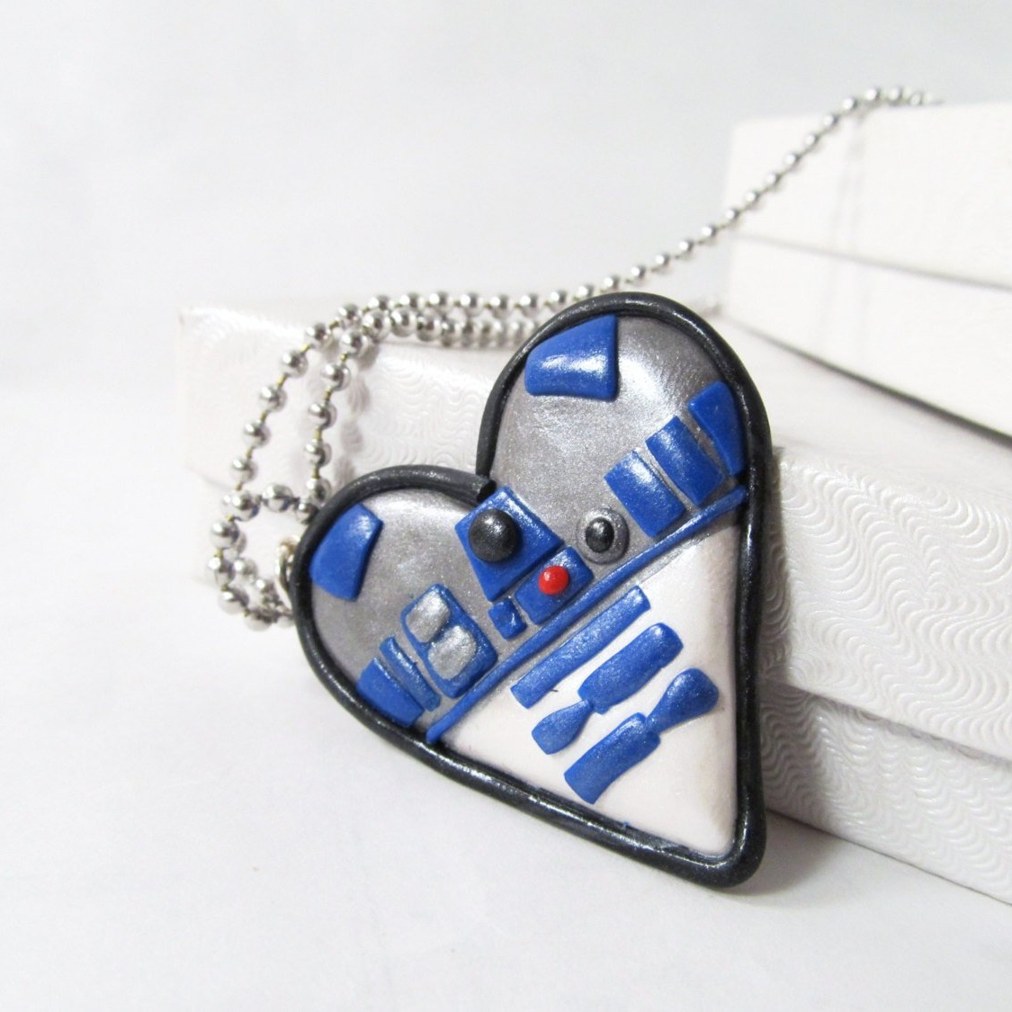 Star Wars Heart Shaped Necklace by Etsy Seller MissEsAccessories