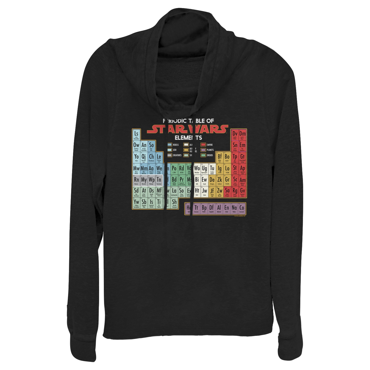 Women's Fifth Sun x Star Wars Periodic Table Of Elements Sweatshirt