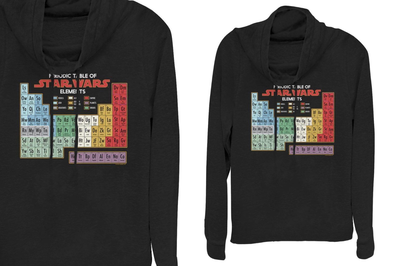 Star Wars Periodic Table of Elements Sweatshirt