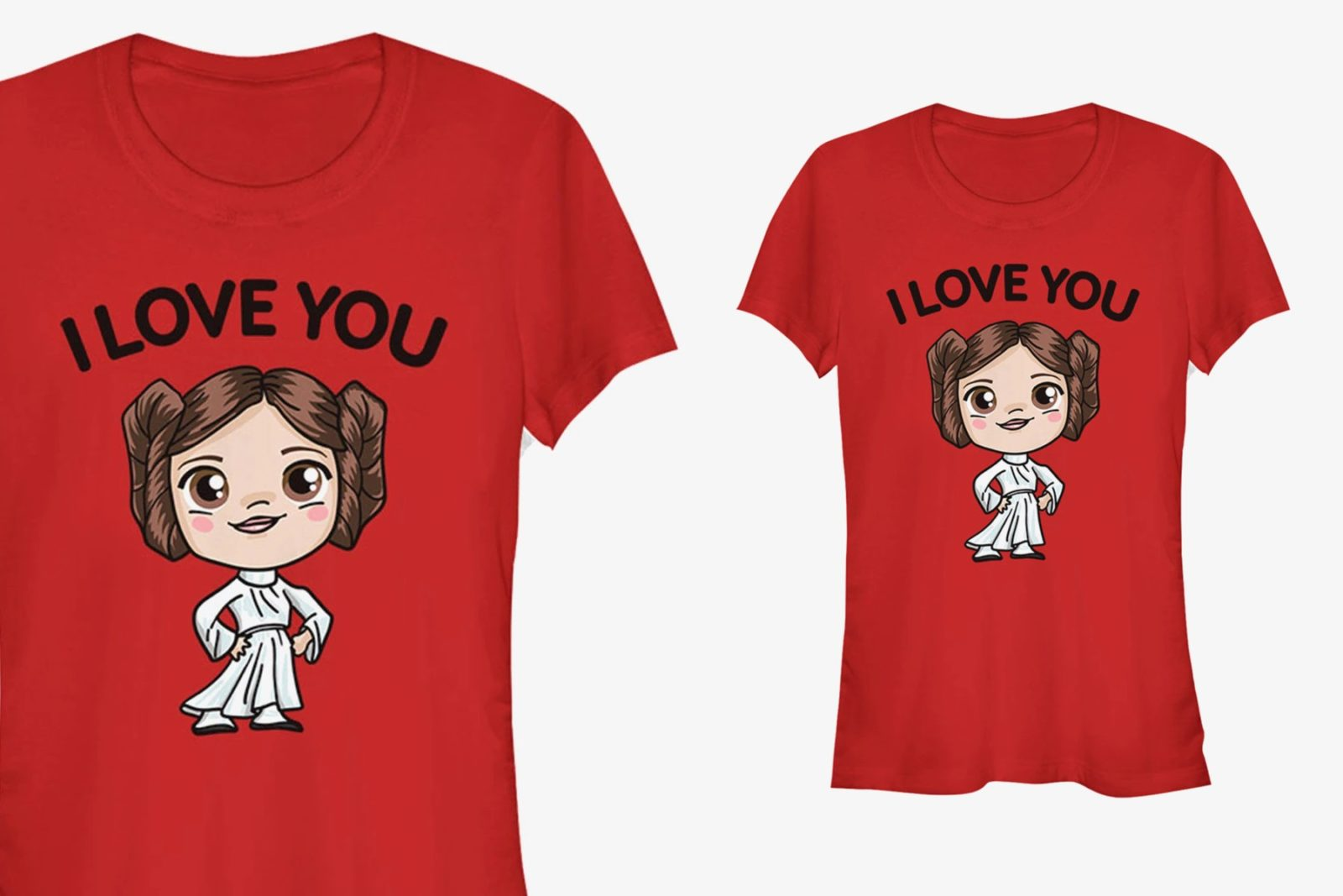 Women's Chibi Princess Leia I Love You T-Shirt