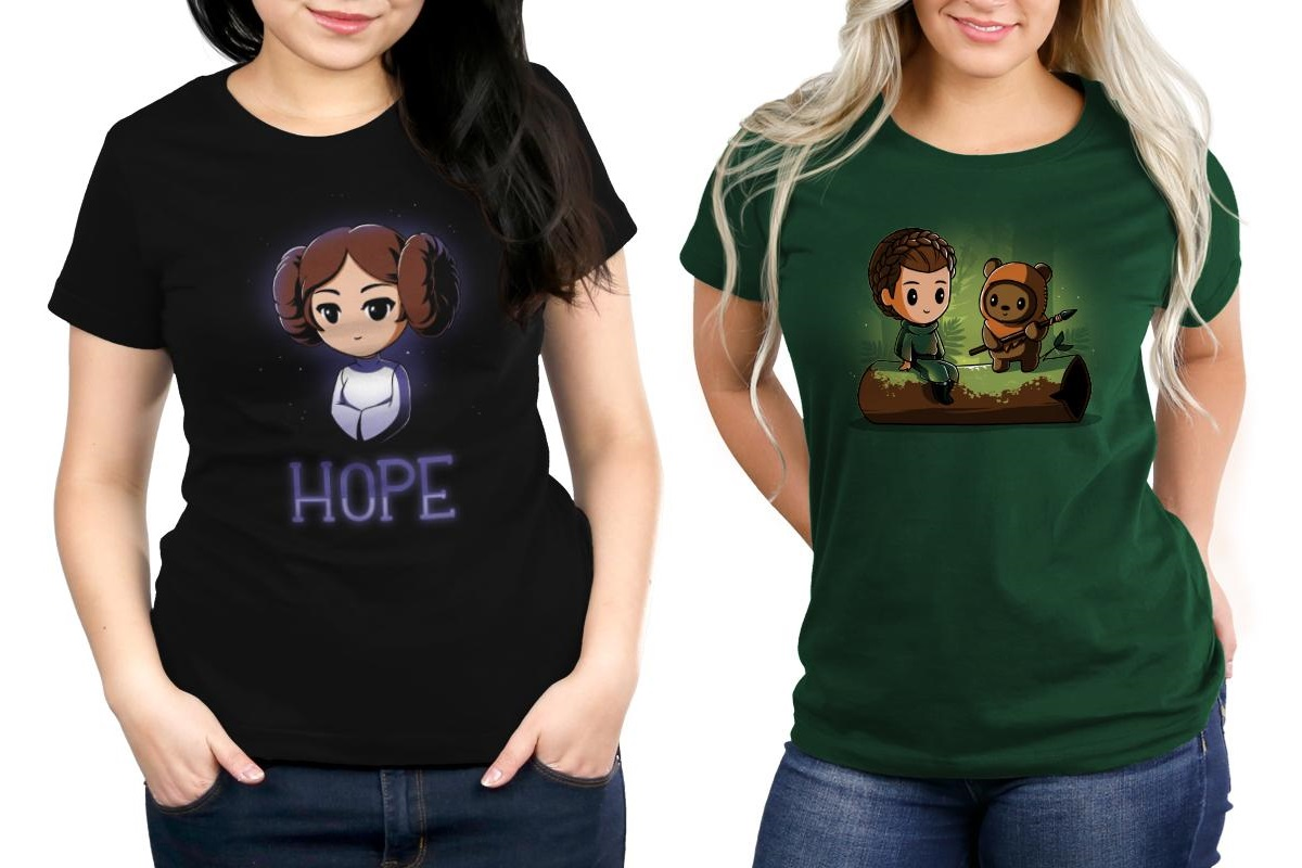 Women's Princess Leia T-Shirts by TeeTurtle