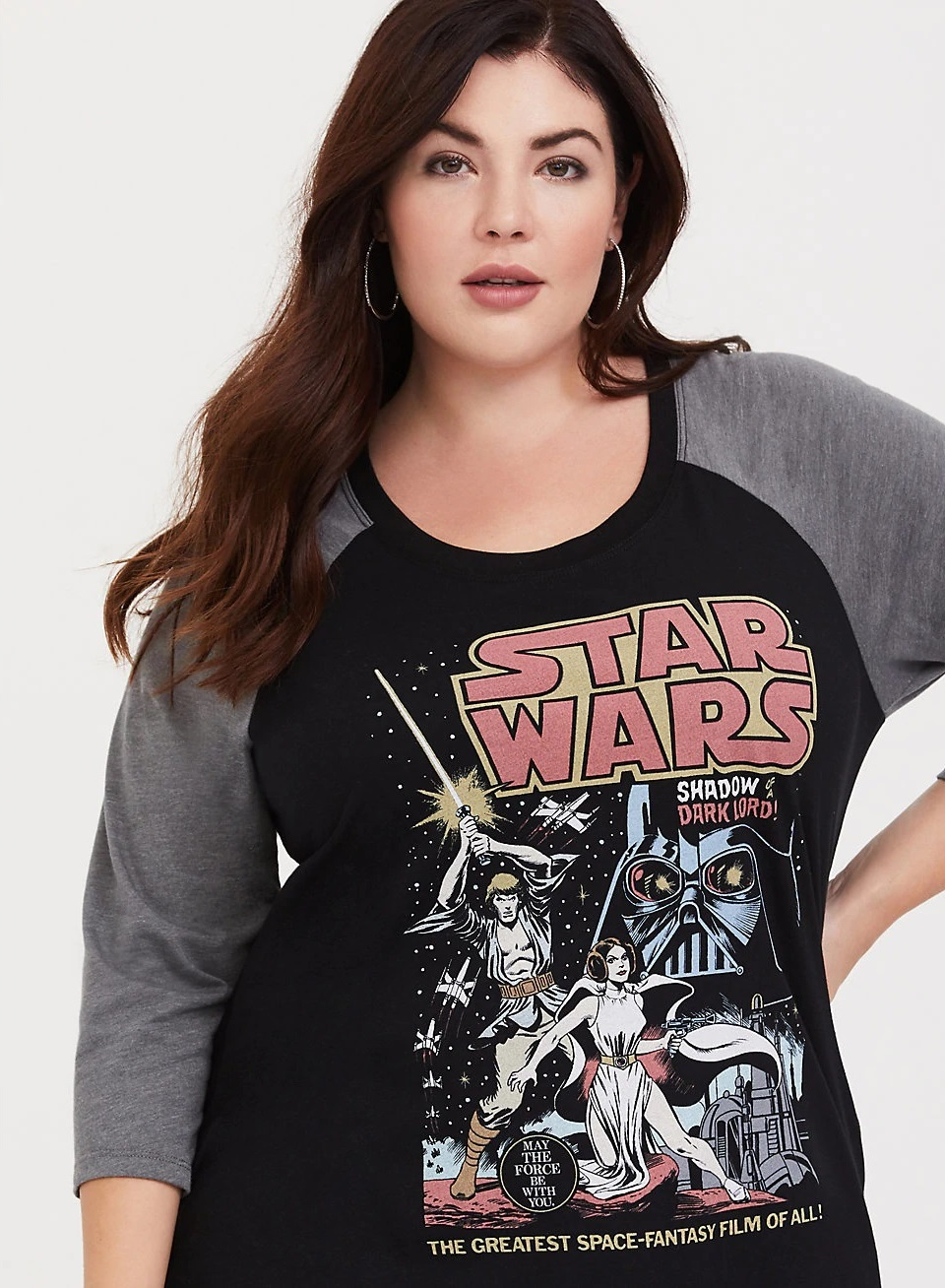 Women's Star Wars Comic Art Raglan Plus Size Tee at Torrid