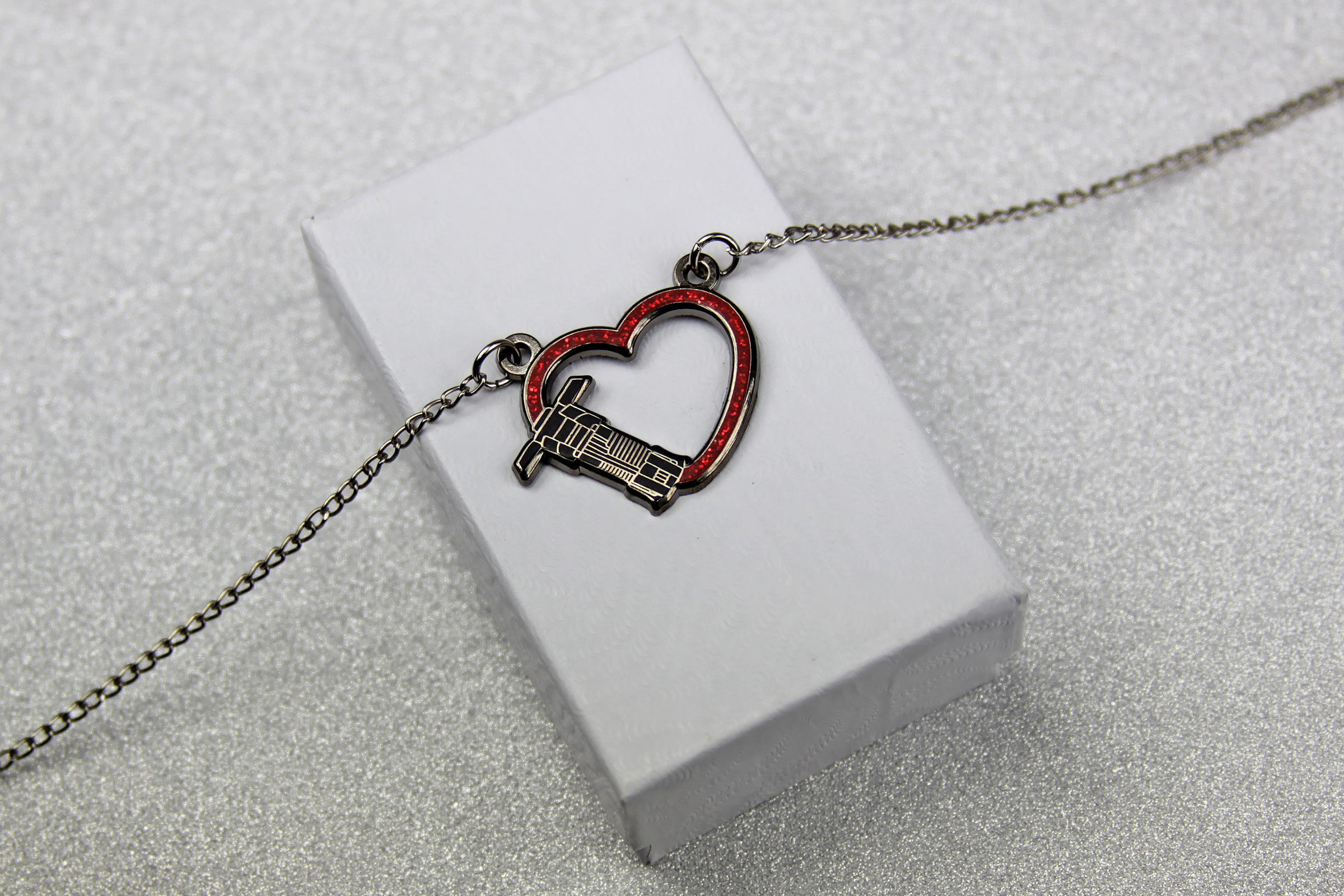 Star Wars Kylo Ren Lightsaber Heart Necklace by Lantern Pins