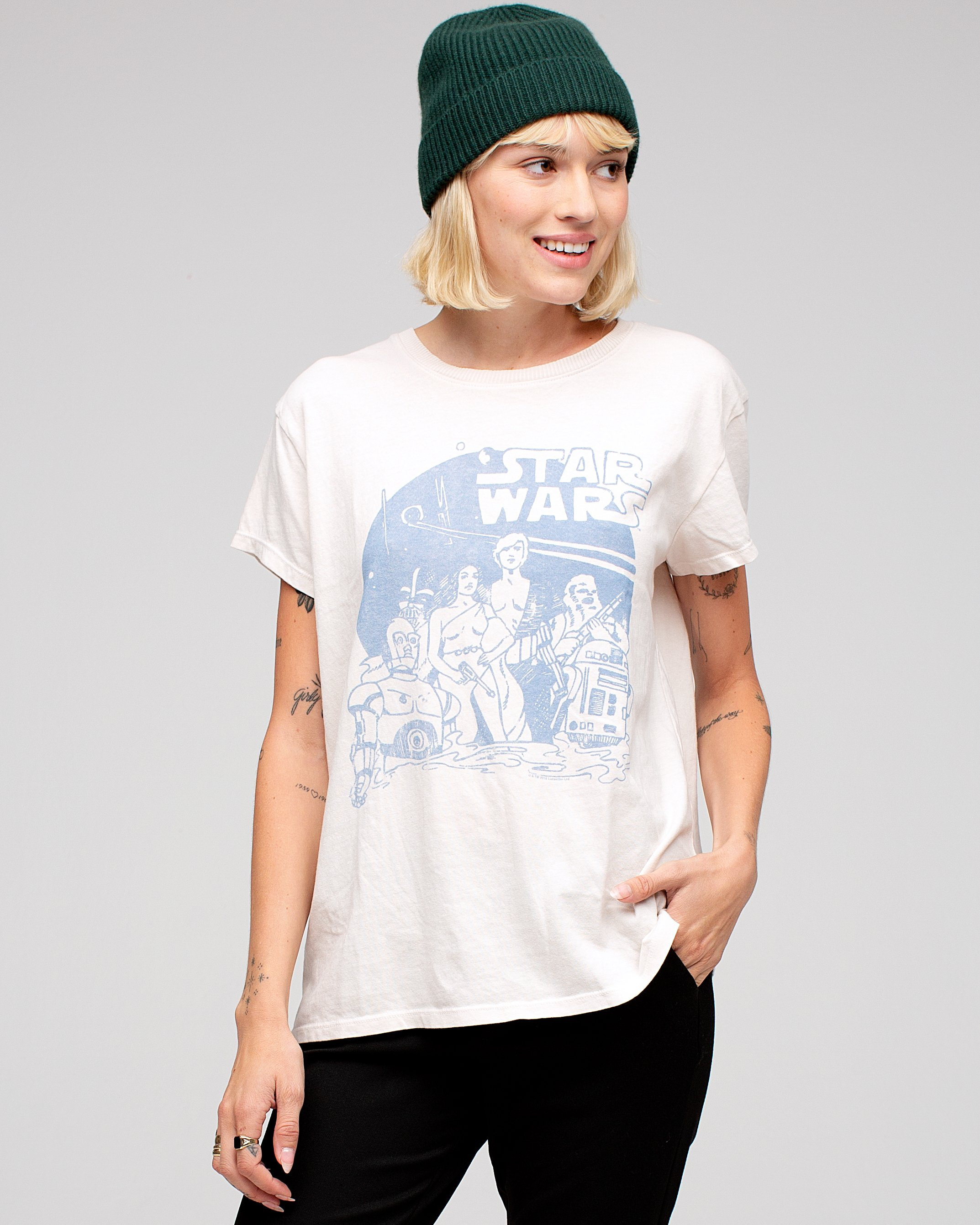 Women's Star Wars Vintage Style T-Shirt by Junk Food Clothing