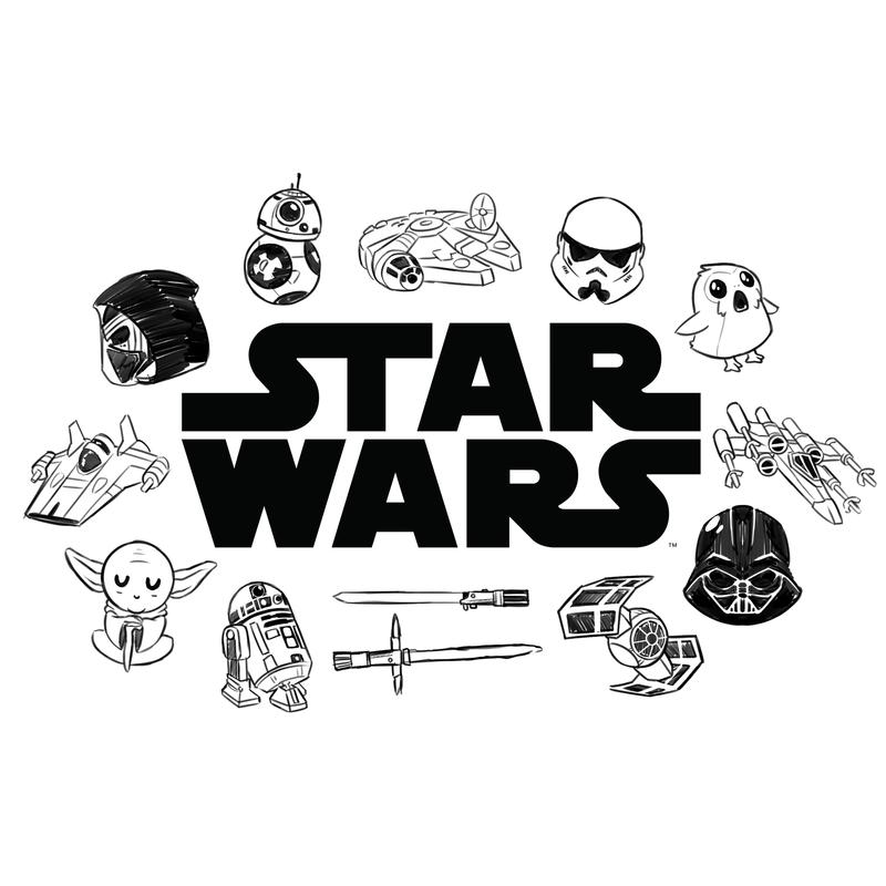 Women's TeeTurtle Star Wars Doodles T-Shirt