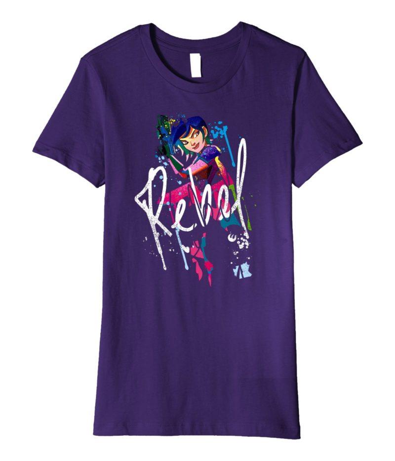 Women's Fifth Sun x Rebels Sabine Wren Paint Drip t-shirt on Amazon