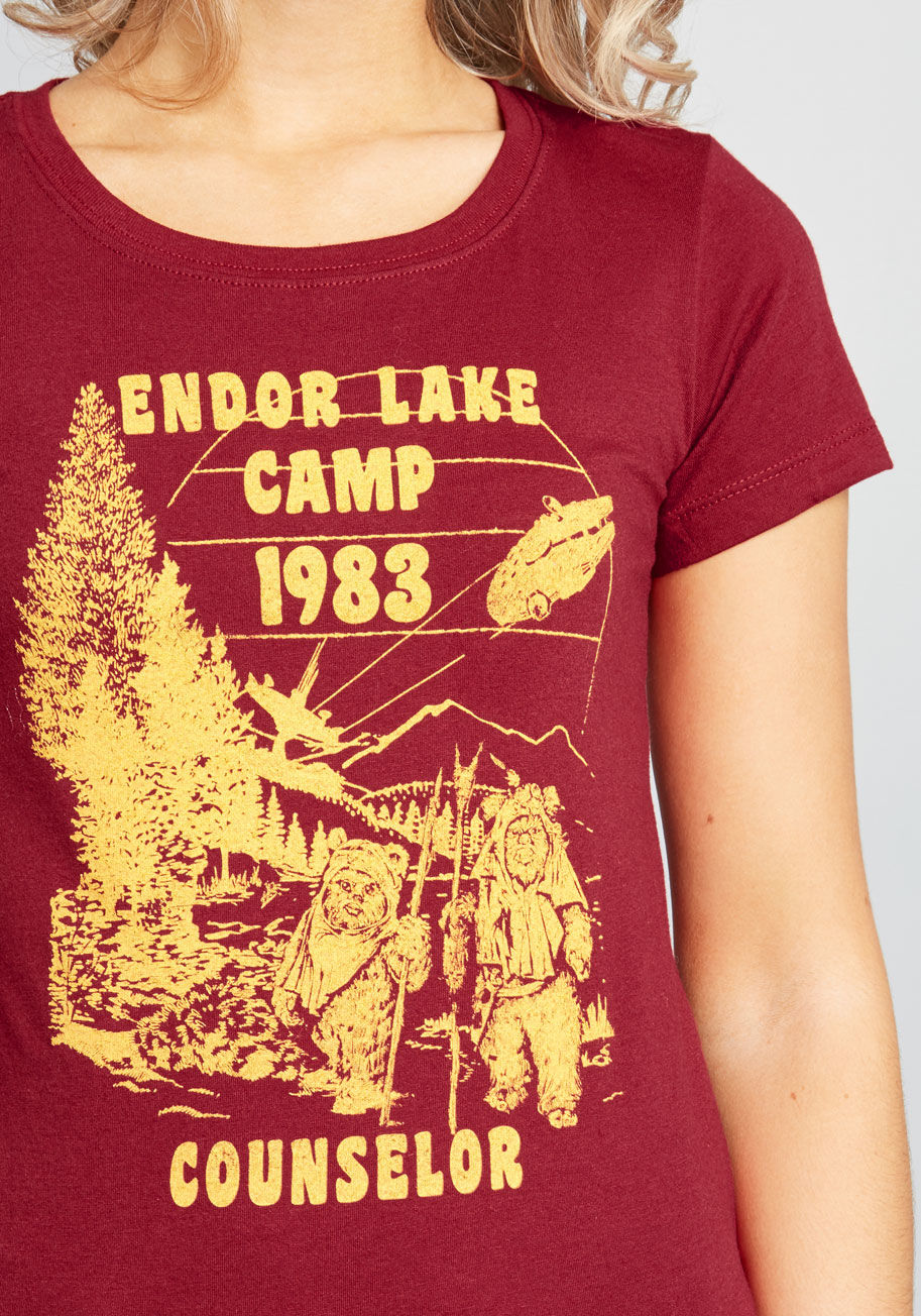 Women's Star Wars Endor Camp Lake T-Shirt at ModCloth