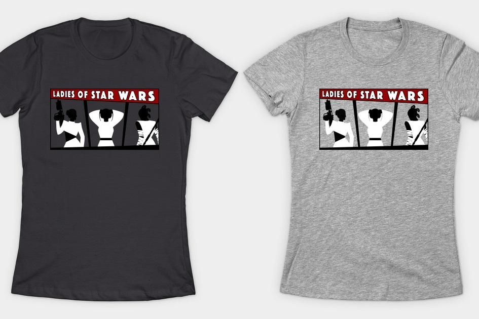 Ladies of Star Wars T-Shirt at TeePublic