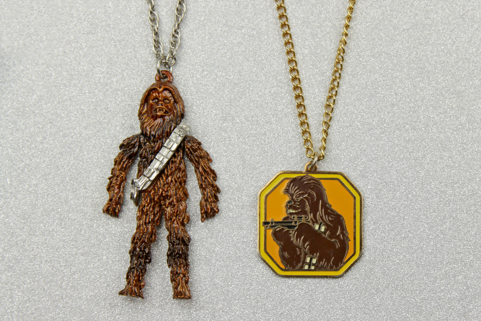 Vintage Star Wars Chewbacca Necklaces from 1977 and 1980