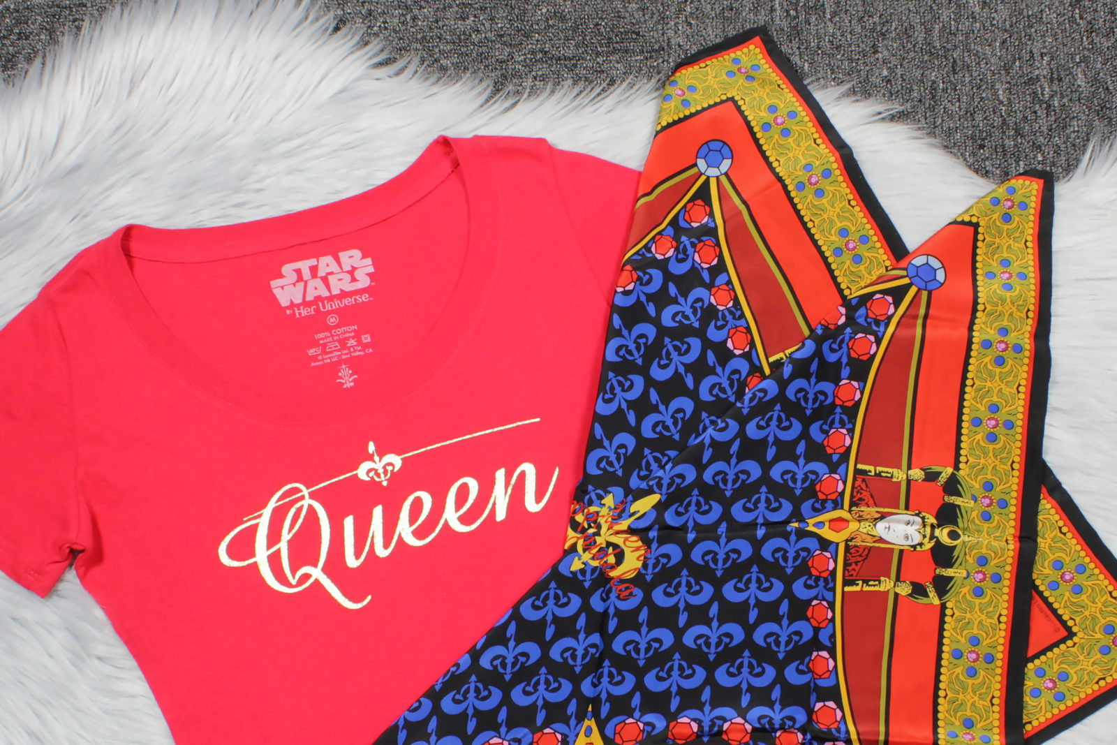 Star Wars The Phantom Menace Queen Amidala T-Shirt by Her Universe and Scarves by Ralph Marlin