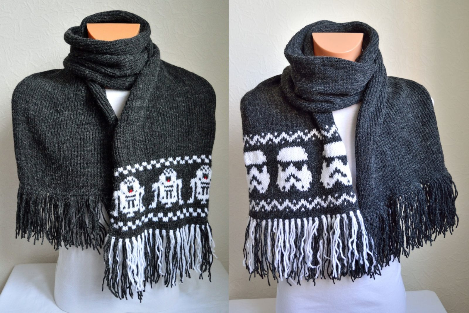 Star Wars Knitted Scarves by VidaKnitWorks