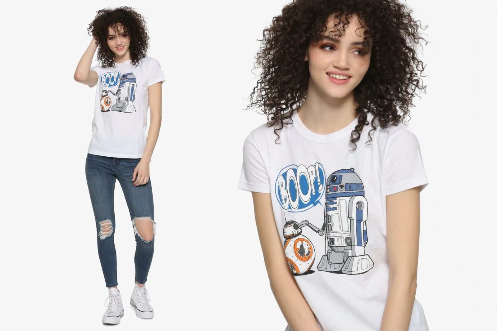 Women's Star Wars R2-D2 & BB-8 Boop T-Shirt