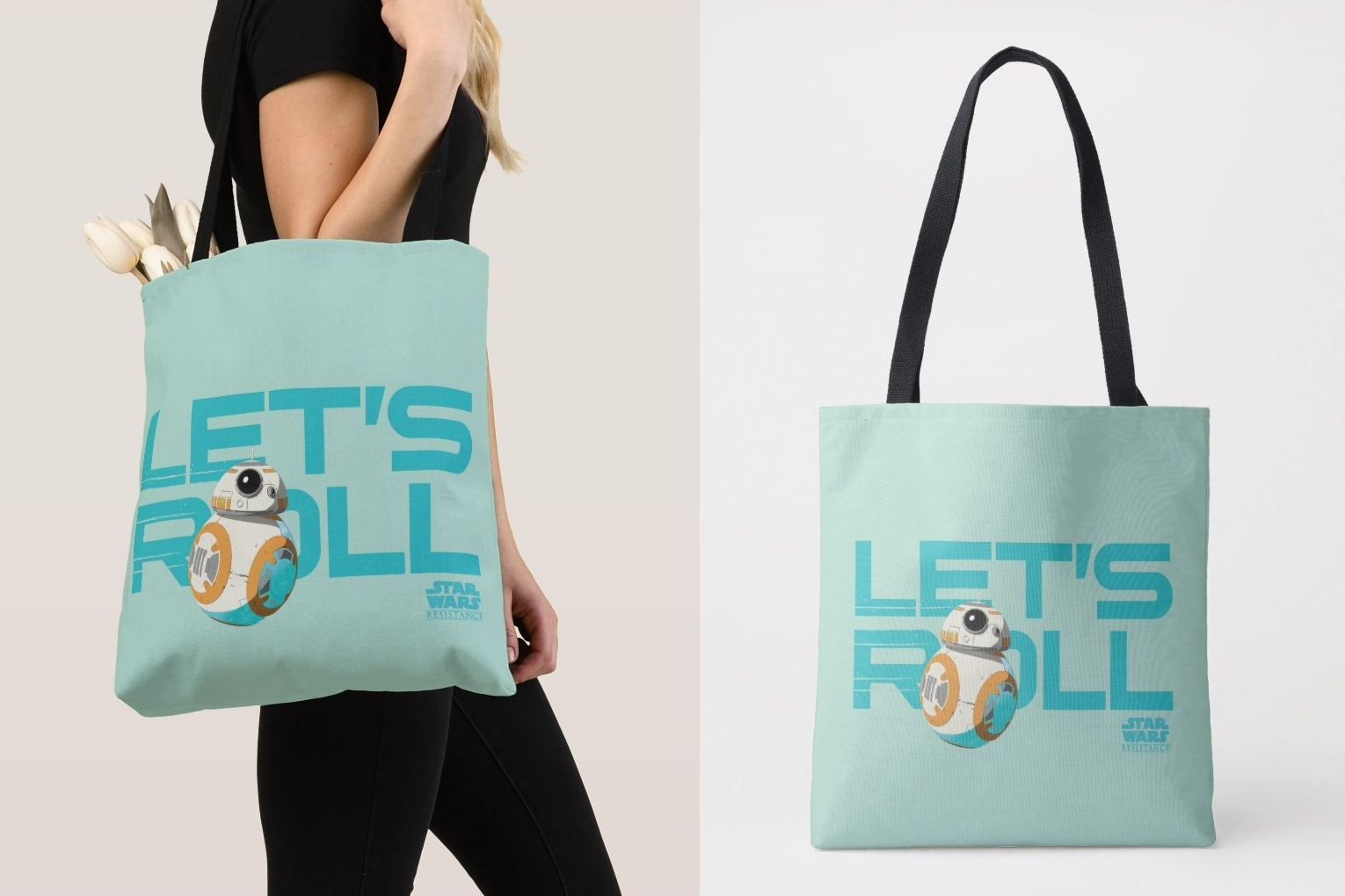 Star Wars Resistance BB-8 Let's Toll Tote Bag