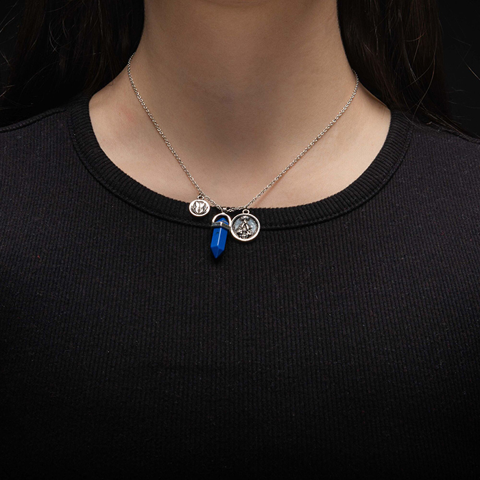 Body Vibe x Star Wars Luke Skywalker Jedi Kyber Crystal Necklace at ThinkGeek