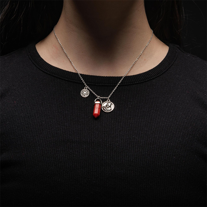 Body Vibe x Star Wars Darth Vader Sith Kyber Crystal Necklace at ThinkGeek