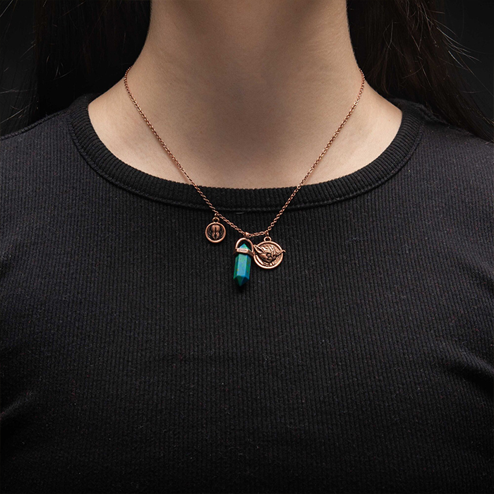 Body Vibe x Star Wars Yoda Jedi Kyber Crystal Necklace at ThinkGeek