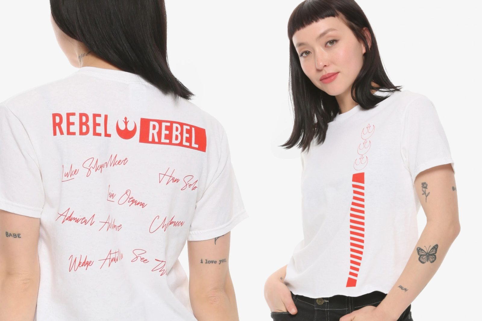 Women's Rebel Roll Call Tee at Hot Topic