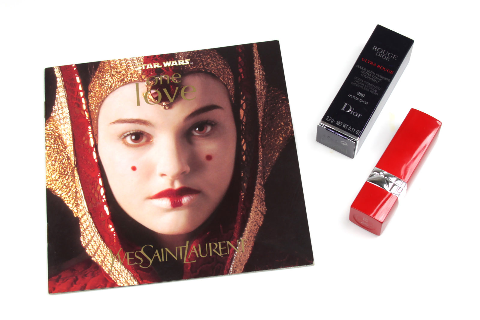 Yves Saint Laurent Star Wars One Love Booklet and Dior 999 Lipstick