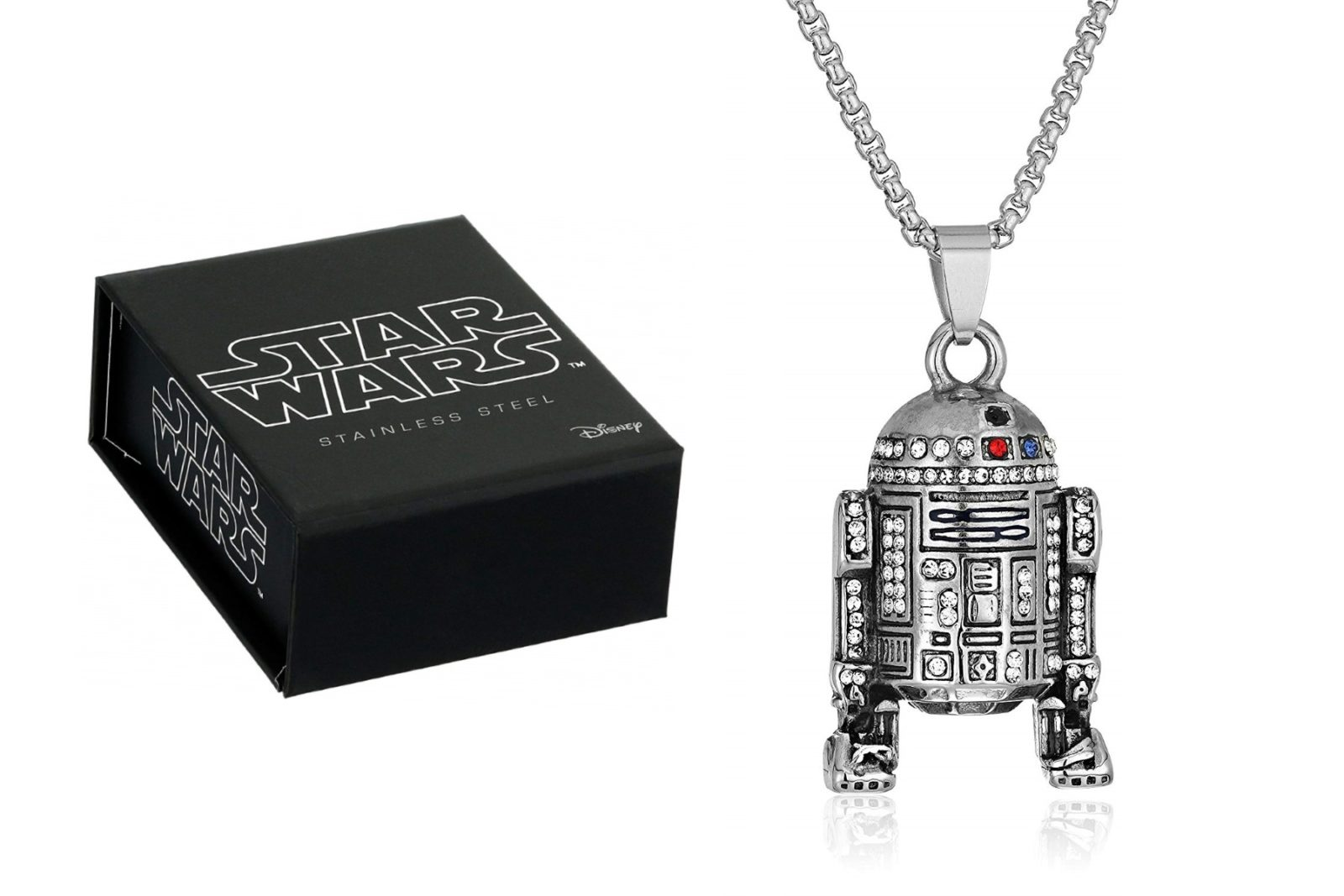 Star Wars R2-D2 Rhinestone Necklace