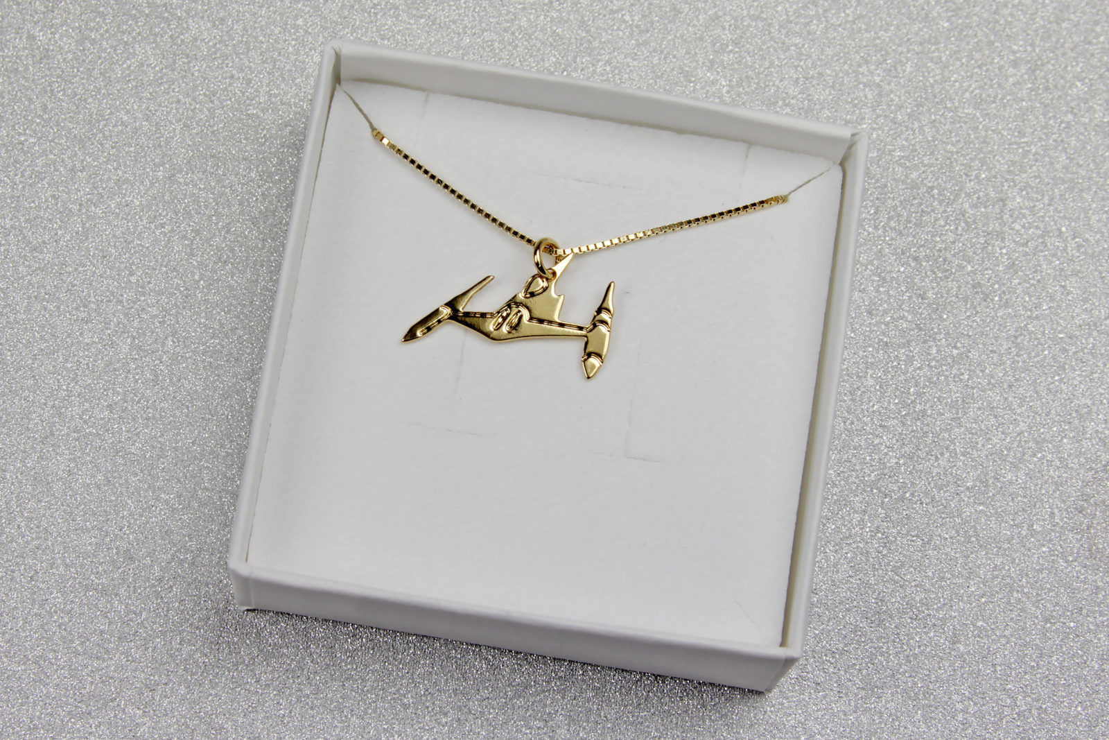 Malaika Raiss Star Wars Naboo Starfighter Necklace