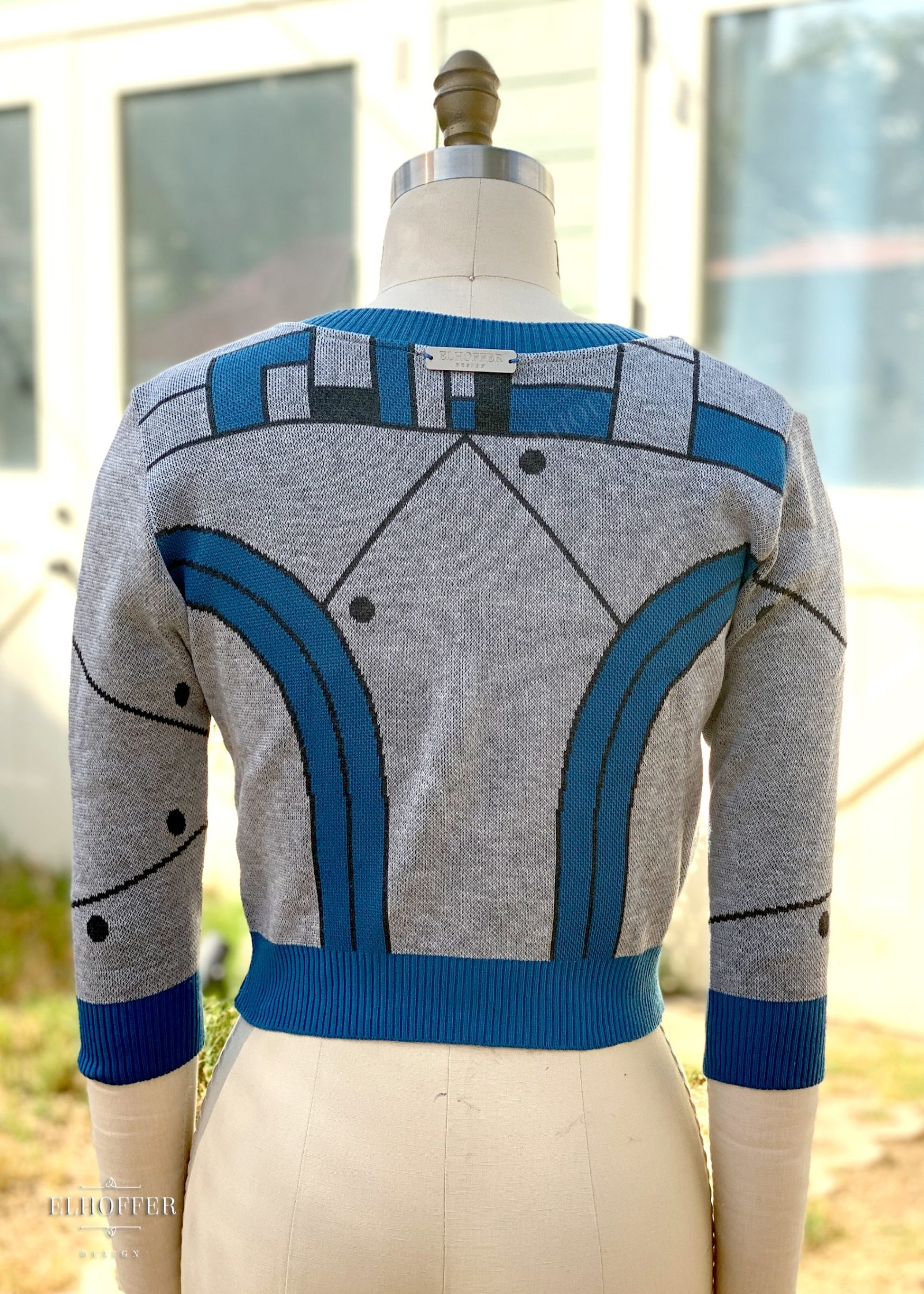Elhoffer Design - Star Wars Inspired Galactic Baby Bot Blue Cardigan