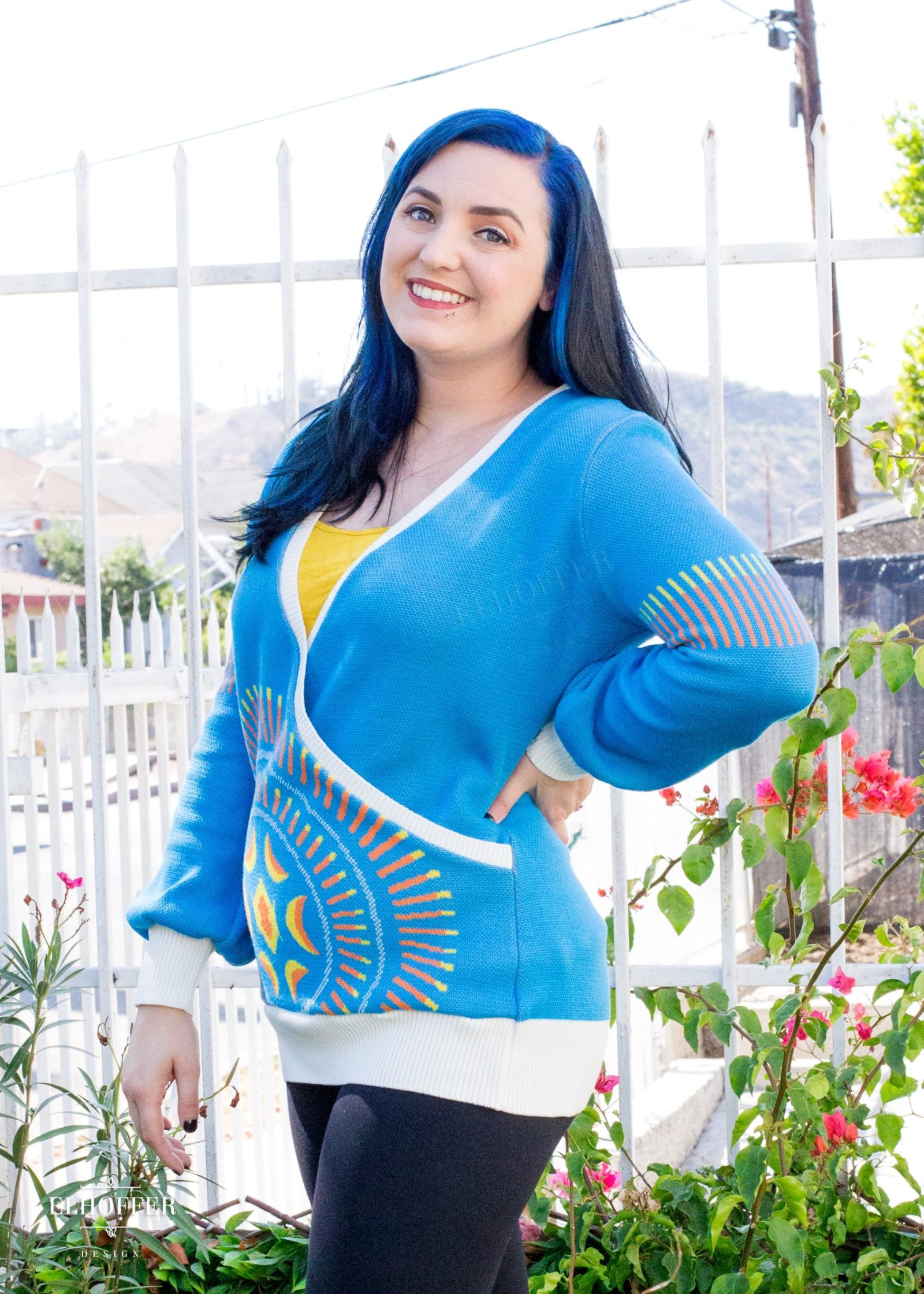 Elhoffer Design - Padme' Amidala Inspired Galactic Eclipse Cross Front Sweater