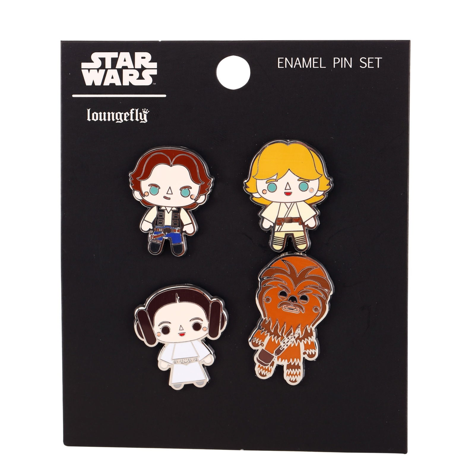Loungefly Star Wars A New Hope Character Pin 4 Pack at Fun