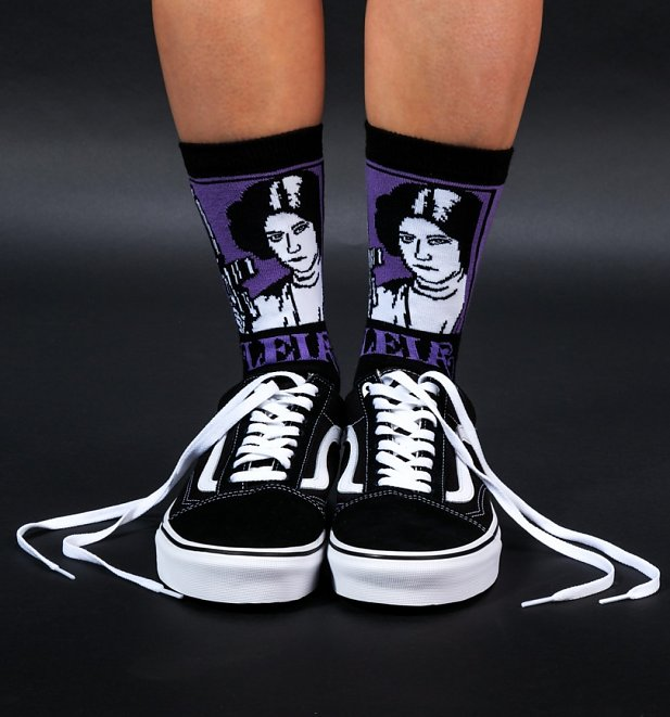Star Wars Princess Leia Socks at TruffleShuffle