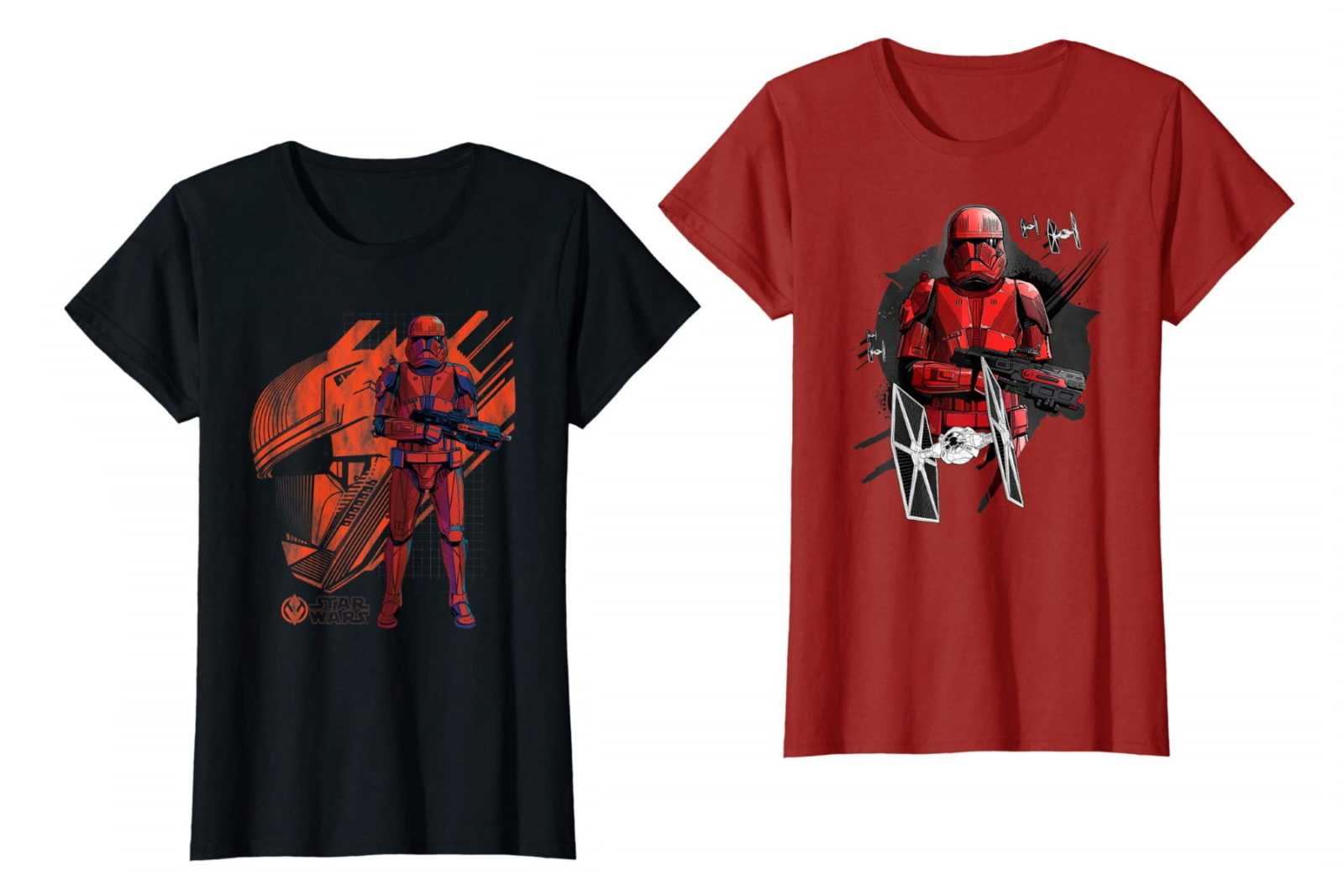 Women's Sith Trooper Tees on Amazon