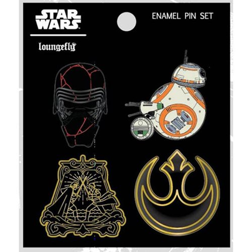 Loungefly x Star Wars The Rise Of Skywalker Pin Set at Entertainment Earth