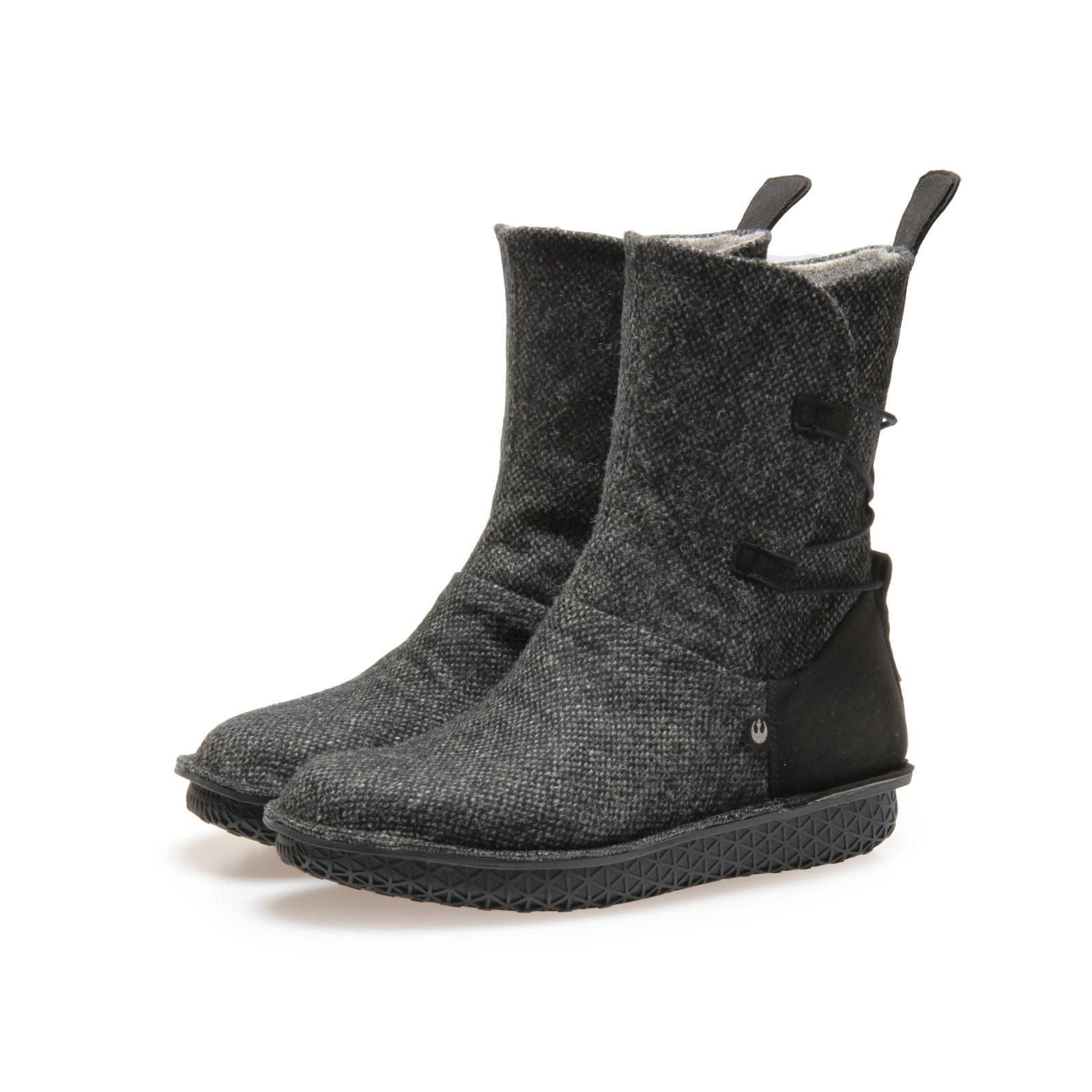 Po-Zu x Star Wars Rey Black Tweed Boots