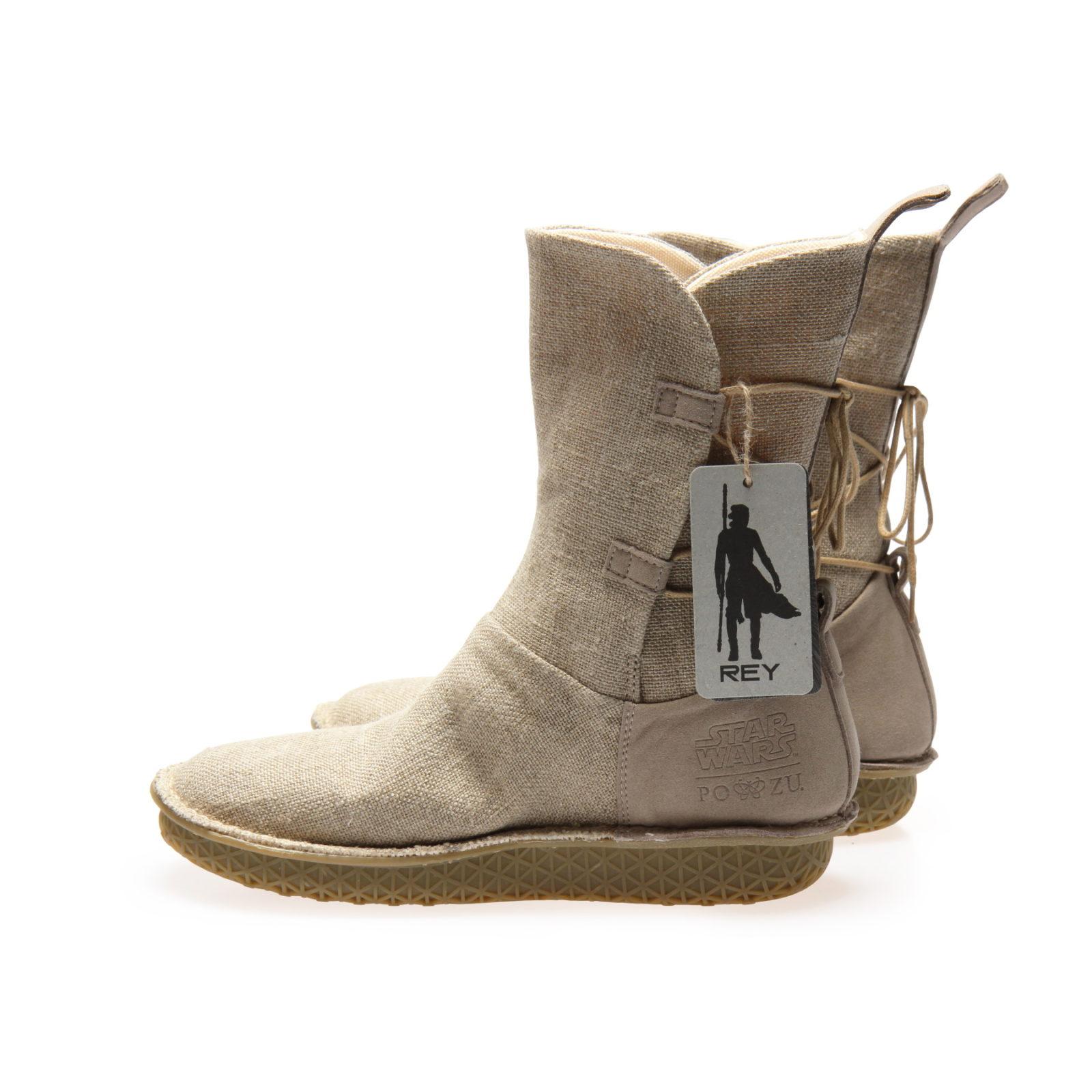 Po-Zu x Star Wars The Rise Of Skywalker Rey Natural Linen Boots