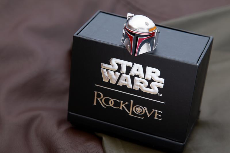 RockLove Jewelry x Star Wars Boba Fett Helmet Ring