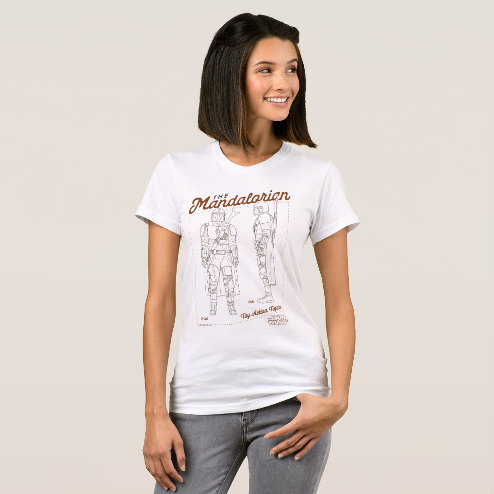 Women's Star Wars The Mandalorian Toy Action Figure T-Shirt by Zazzle on Shop Disney