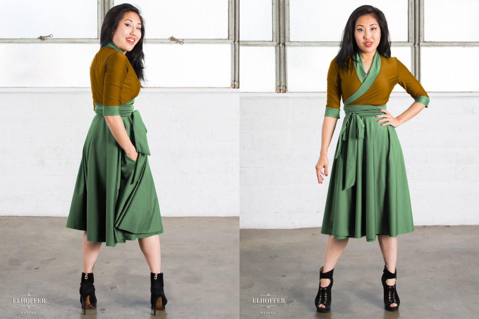 Elhoffer Design Galactic Asset Wrap Dress