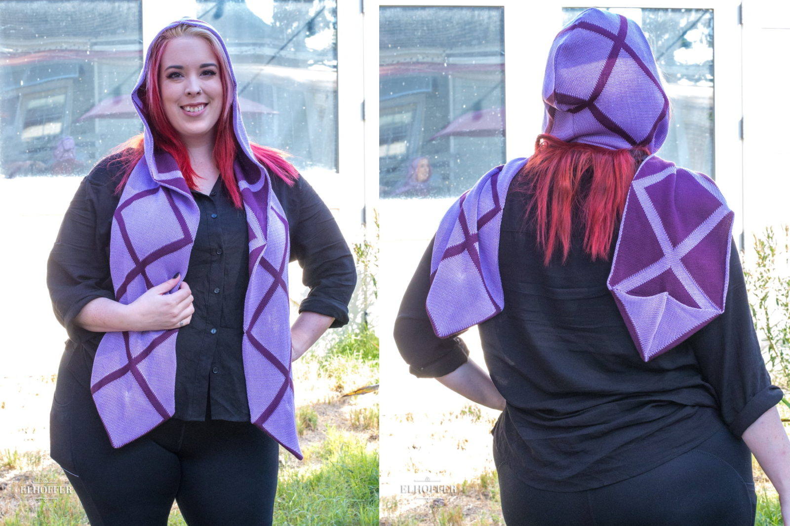 Galactic Queen Hooded Scarf by Elhoffer Design