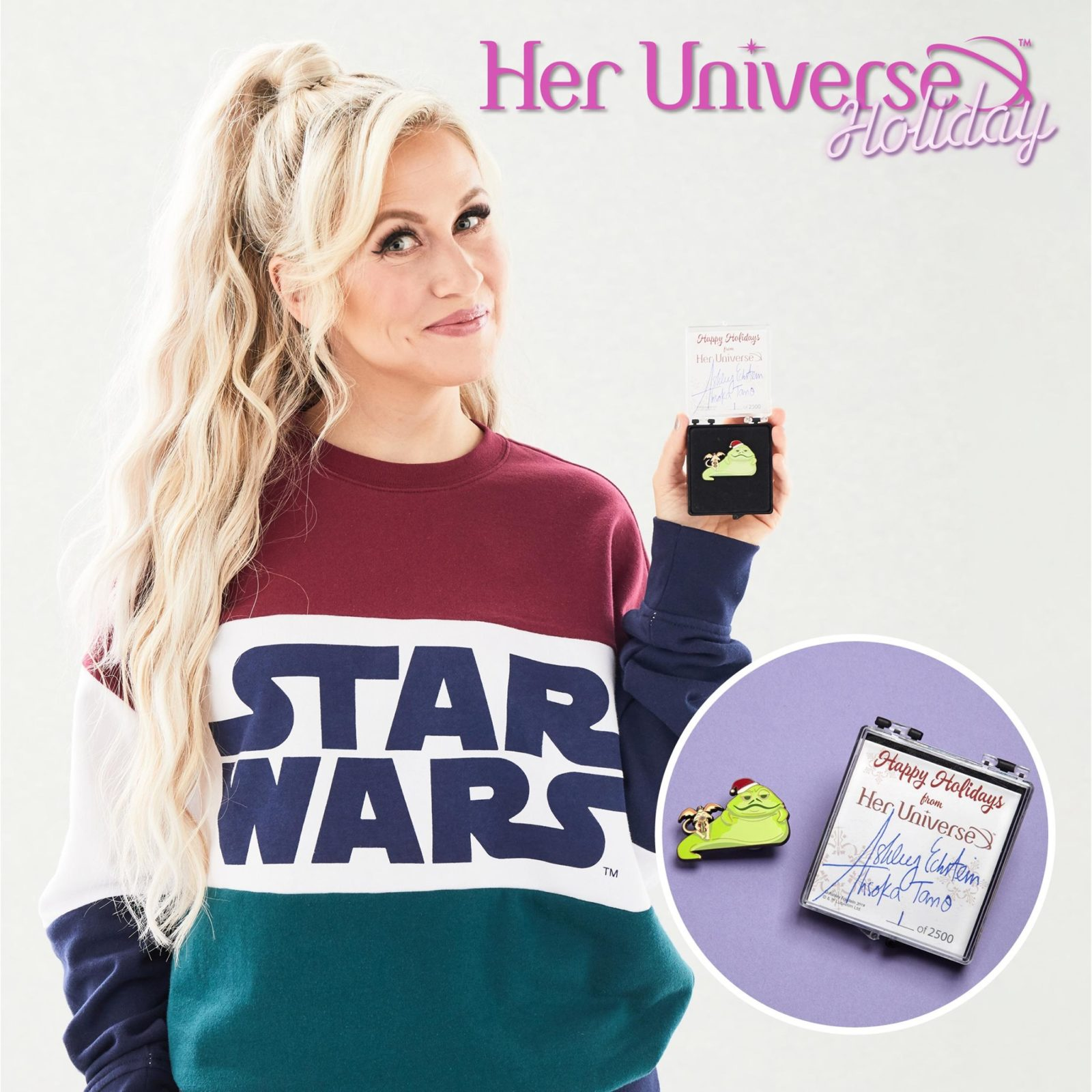 Her Universe Star Wars Holiday 2019 Pin - Jabba the Hutt and Salacious Crumb