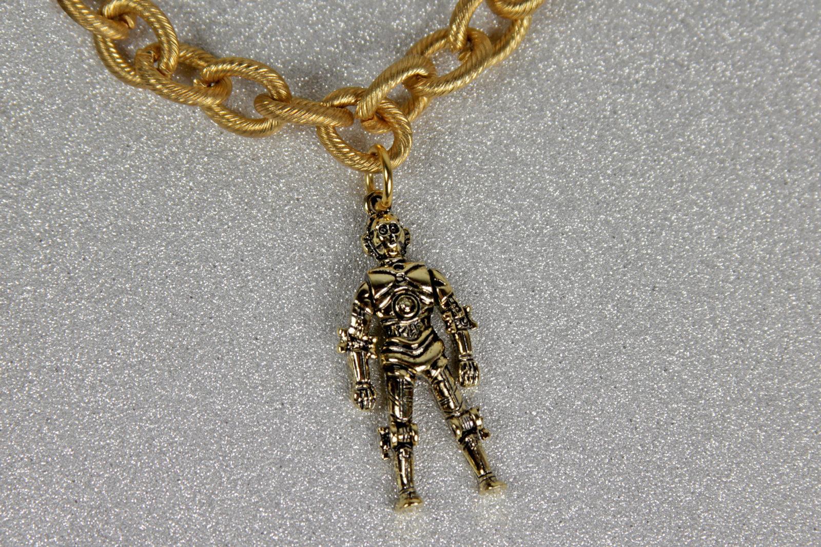 Vintage Star Wars Bracelet - C-3PO Charm