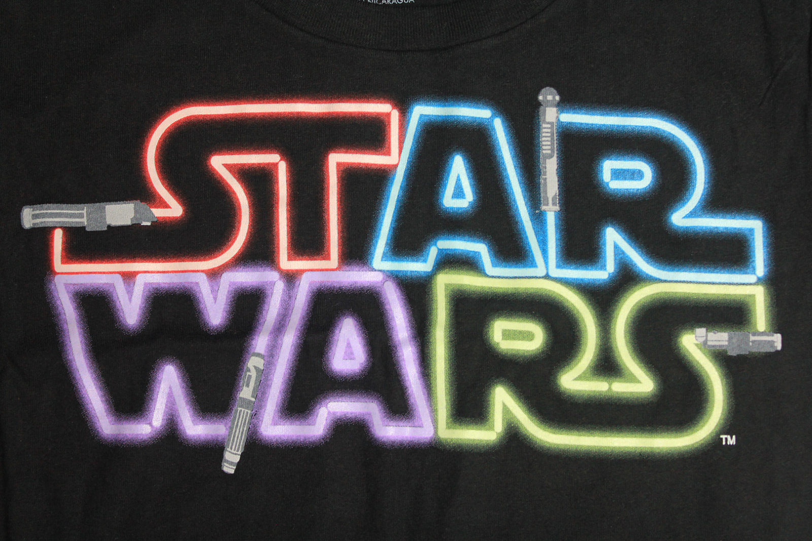 Her Universe - Lightsaber logo tee (print detail in light)