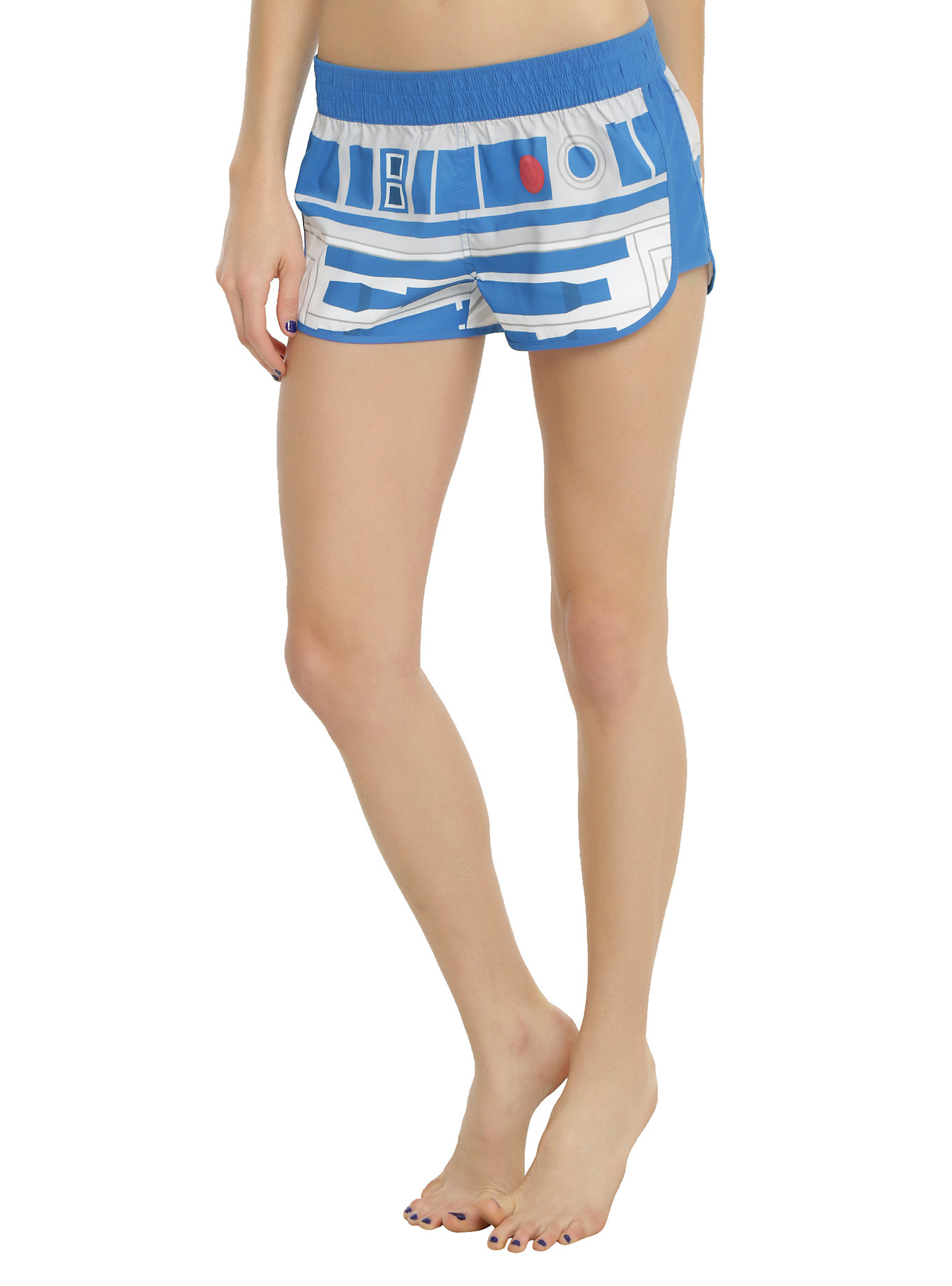 R2-D2 swim shorts at Hot Topic