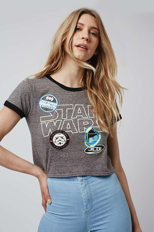 Star Wars badges tee at Topshop
