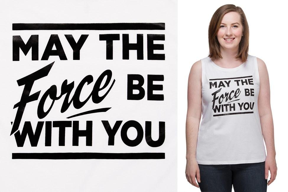 Thinkgeek - exclusive women's 'May The Force' muscle tank top