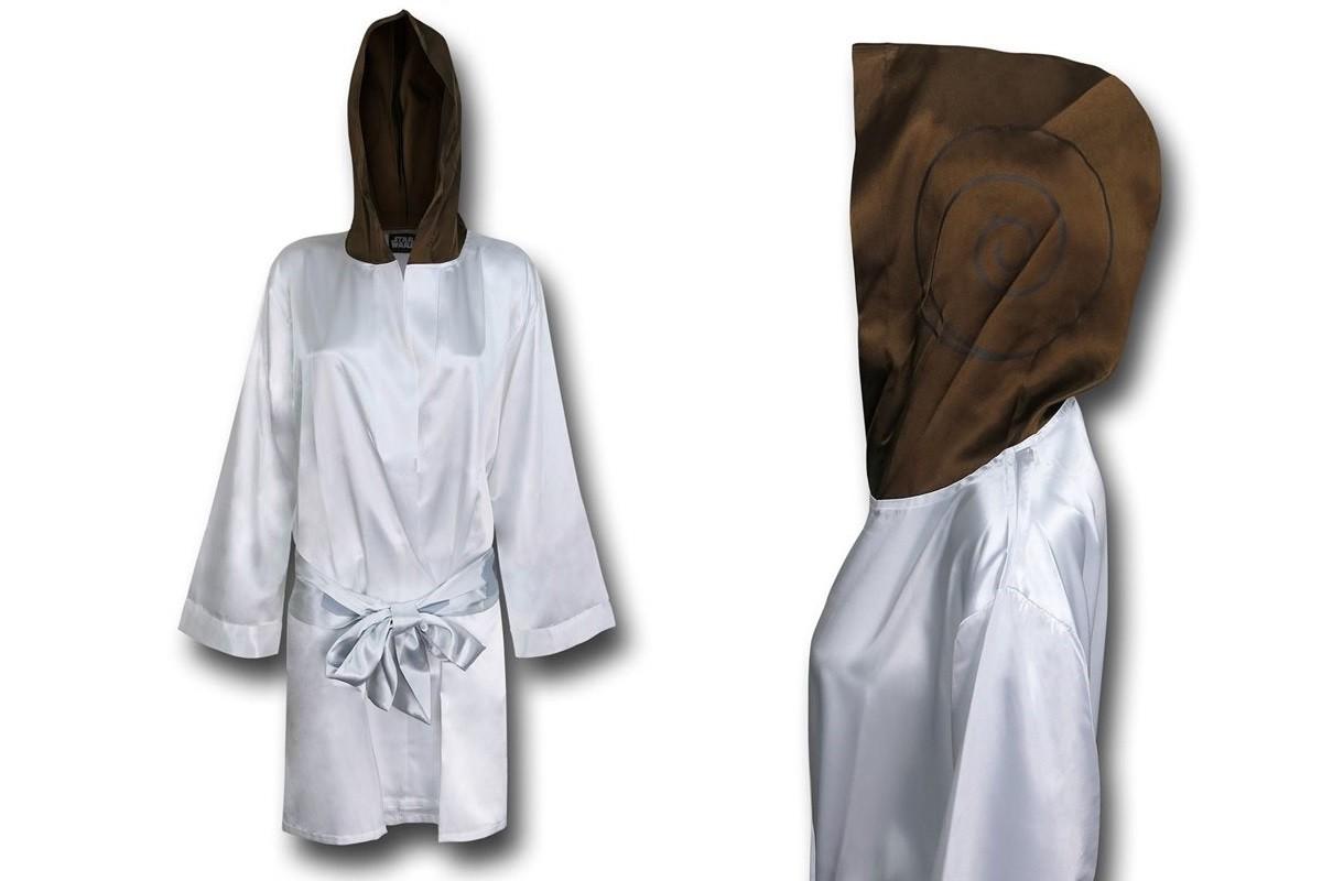 Princess Leia satin robe at SuperHeroStuff