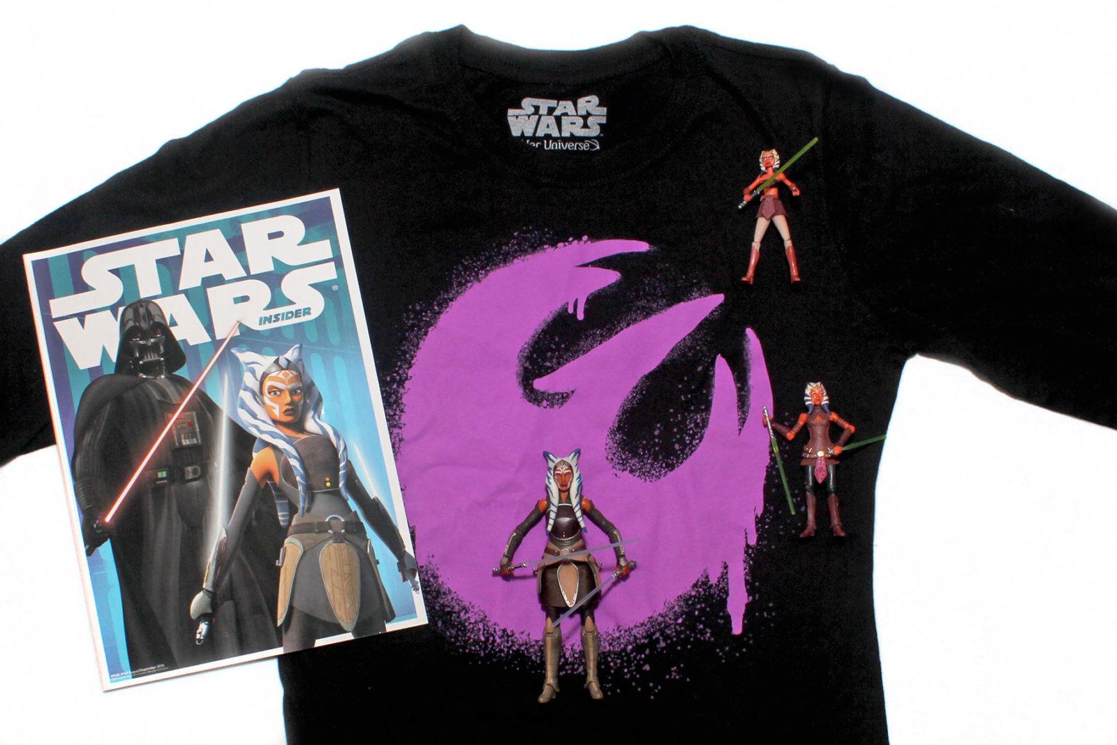 Ahsoka Lives Day 2016 - Her Universe Rebels top and Ahsoka figures
