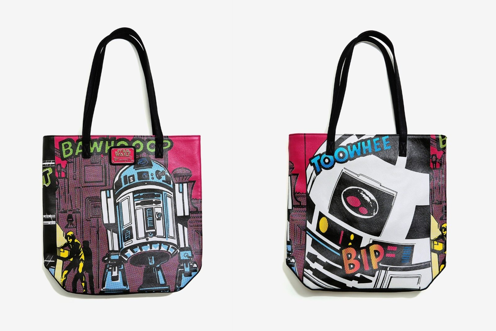 Loungefly R2-D2 comic tote at Box Lunch