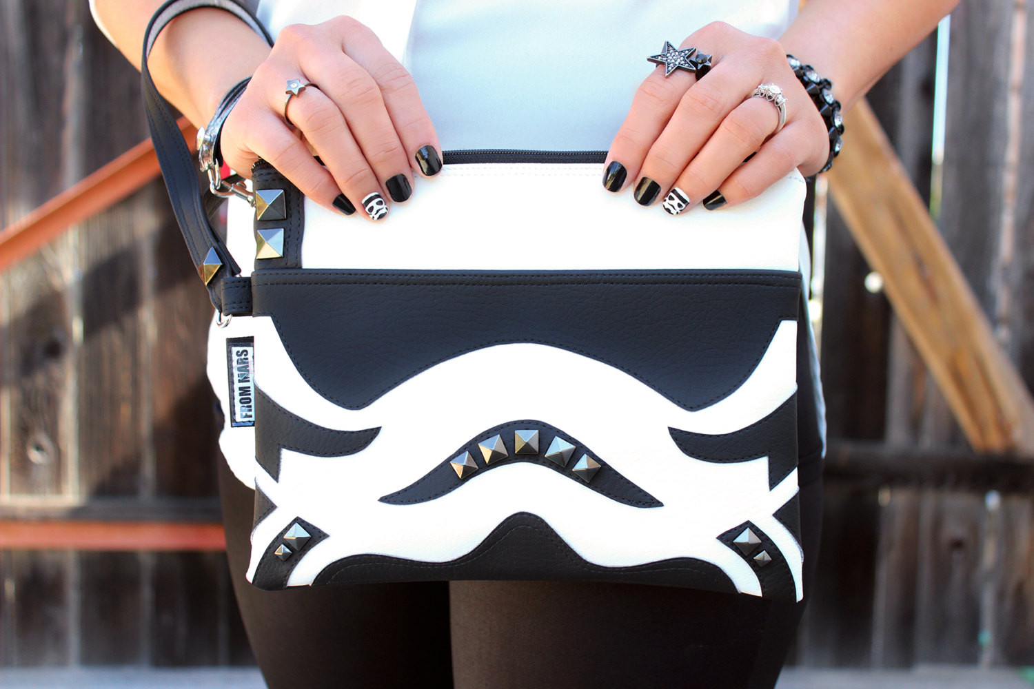 Sent From Mars - Stormtrooper inspired clutch bag with wristlet